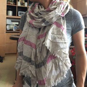 Multi colored striped scarf