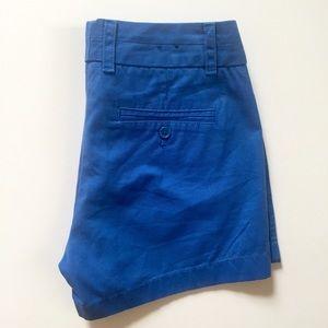 J. Crew cobalt blue Chino shorts