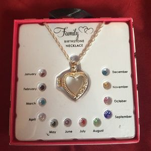 Family ❤️locket❤️ birthstone necklace stones1 of 4
