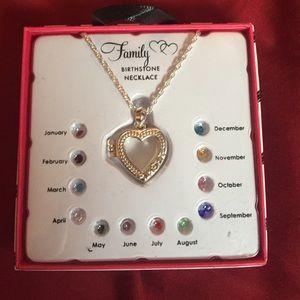 Family ❤️locket❤️ birthstone necklace stones2 of 4