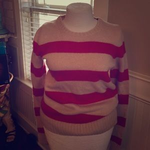 Red and Tan Ann Taylor Sweater