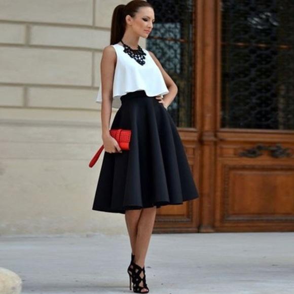 Платье миди с пышной юбкой фото