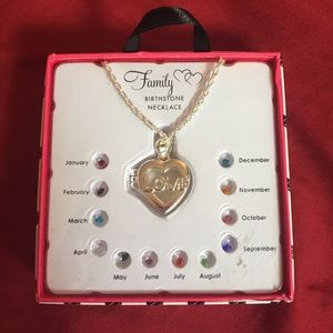 Family (LOVE) Birthstone Necklace 1 of 3