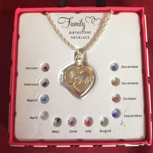 Family (LOVE) Birthstone necklace 2 of 3