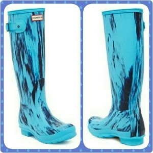 Hunter Original Wellington Blue Boots Size 5 - New