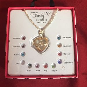 Family (LOVE) Birthstone Necklace 3 of 3