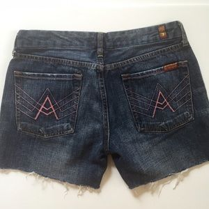 Seven for all Mankind cut off denim shorts