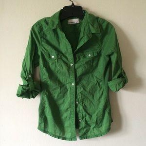 Green Buttoned Shirt