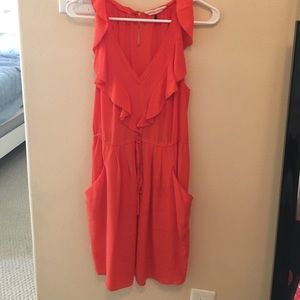 Orange silk Rebecca Taylor tank dress