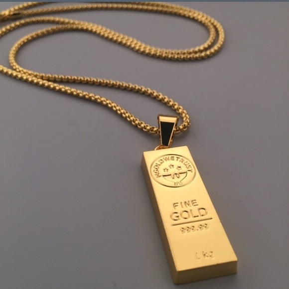 53 Off Jewelry Solid Gold Brick Block For Sale With
