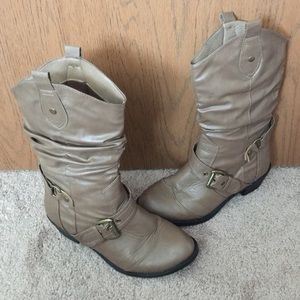 West Blvd Cowgirl boots Tan size 8.5 EUC