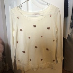 LOFT embellished sweater