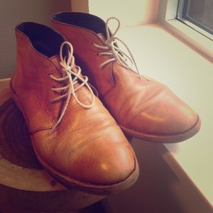 Cole Haan tan light brown leather boots sz 7.5