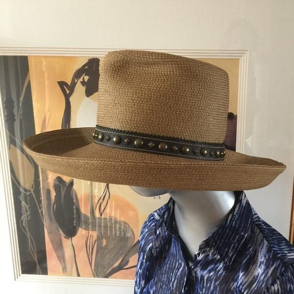 1f6056a7913 ERIC JAVITS STUD GAMBLER Cowboy Hat
