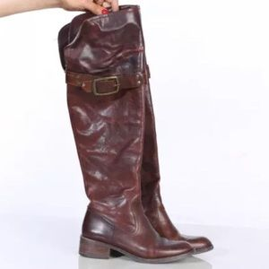 Jessica Simpson Clancey Knee-High Brown Leather