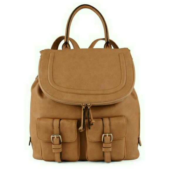 ae51c93986d FLASH SALE ALDO Brown Faux Leather Backpack