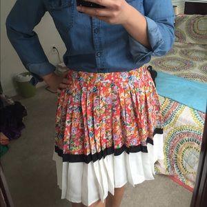 Pim + Larkin floral pleated skirt