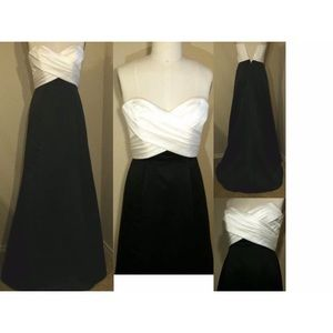 Alfred Angelo Dresses & Skirts - Alfred Angelo black & ivory formal gown! NWT!