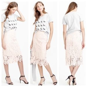 J.Crew collection lace pencil skirt