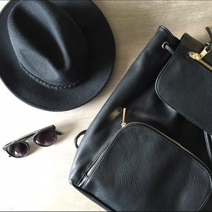 Accessories - Black Wool Hat for Festival Season