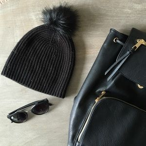Banana Republic Accessories - Black Pouf Banana Republic Beanie