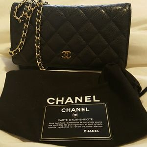 OFFERS Chanel WOC quilted wallet caviar classic