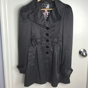 Lipsy London Jackets & Blazers - Charcoal Grey Trench Coat