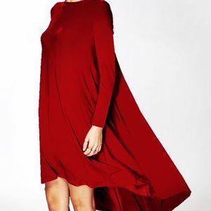 FashionBohoLoco Dresses & Skirts - 🐔 EARLY BIRD SALE! 🐔 Cape Shirt Slip Dress NWOT
