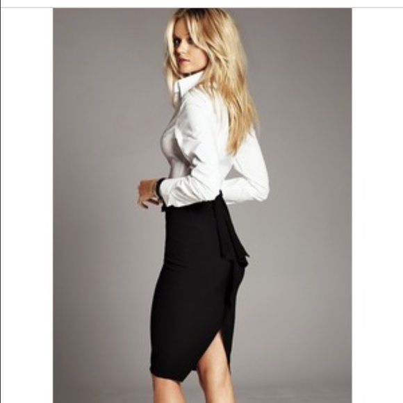 89f8321ec7 Victoria's Secret Skirts | Victorias Secret Ruffle Back Pencil Skirt ...