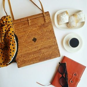 Handbags - Vintage Wicker Framed Bag