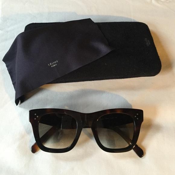 56c21d221a6b Celine Accessories | Dark Brown Square Sunglasses | Poshmark