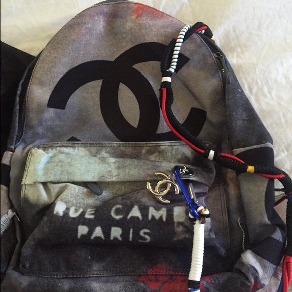 9035355c0ab0 Bags | Chanel Inspired Celebrity Graffiti Backpack New | Poshmark