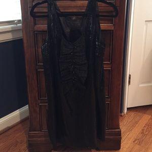 MM COUTURE Black sequin shift dress