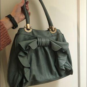 Teal Melie Bianco Angelica bow bag