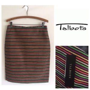Talbots Dresses & Skirts - ⛵️ SALE Talbots Multicolor Striped Pencil Skirt 8P