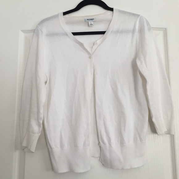 67% off Old Navy Sweaters - thin white cardigan from Bailey's ...
