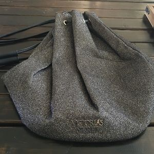 Victoria's Secret Black Glitter Backpack