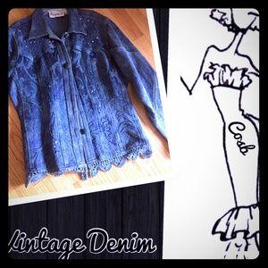 Flashback Jackets & Blazers - Vintage Style Denim Jacket