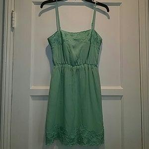 Isabel lu silk seafoam green dress XS