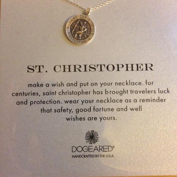 Dogeared Jewelry Nwt St Christopher Necklace Poshmark
