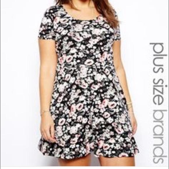 0e67b93697 NEW LOOK INSPIRE floral skater dress