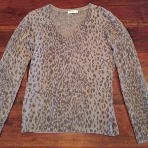 Equipment cashmere sweater animal print