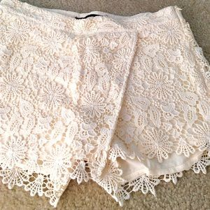 Zara lace crochet shorts skort