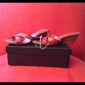 REDUCED Cole Haan red wedge sandals in size 7.5