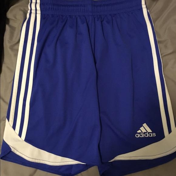 Never Adidas Game Soccer Blue Shorts Worn Girls Nv8mnw0