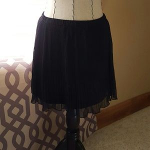 Pleated Chiffon Skirt by Forever21