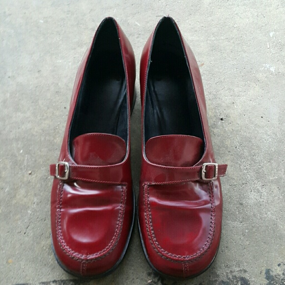 cc1eaedb2aa Coach Shoes - Coach patent leather merlot colored loafers