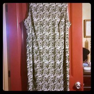 Dresses & Skirts - Shift dress. Has zipper up back. Pretty colors.