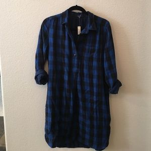 Madewell plaid long sleeve dress