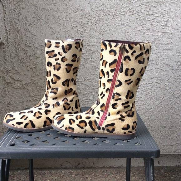 Mini Boden Mini Boden Quot Leo Quot Leopard Print Calf Hair